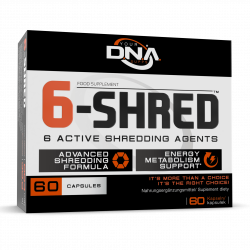DNA Supps DNA 6-Shred - 60 Capsules 60 kapsułek